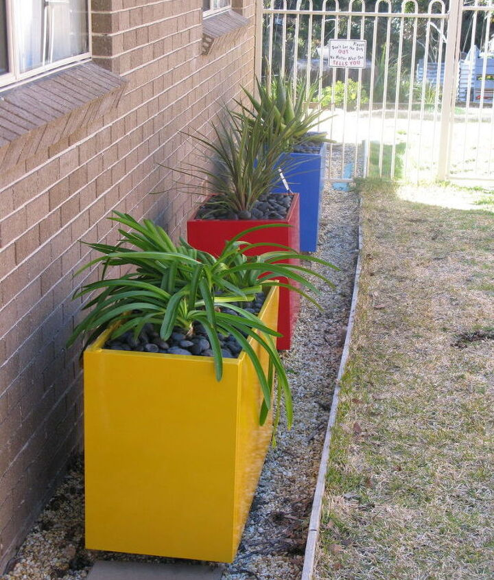 third and last painted file cabinet to garden planter sungold yellow, container gardening, gardening, repurposing upcycling