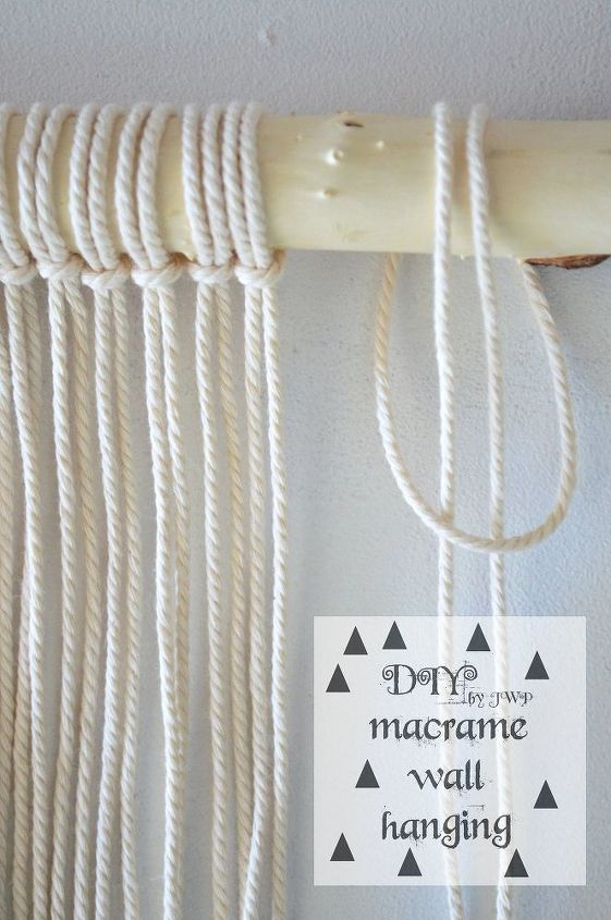 diy easy wall hanging macrame, crafts, wall decor