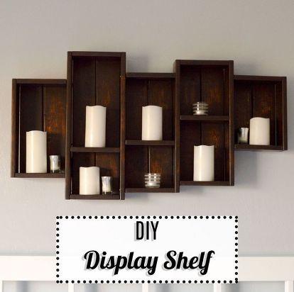 Diy Display Shelf Bedroom Ideas Shelving Wall Decor Woodworking