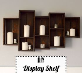 Diy Display Shelf, Bedroom Ideas, Diy, Shelving Ideas, Wall Decor,  Woodworking