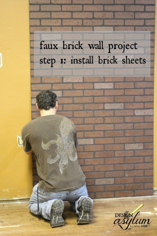 diy making faux brick walls look old, concrete masonry, how to, painting, wall decor