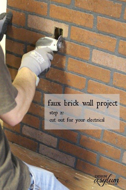 Diy Making Faux Brick Walls Look Old Hometalk