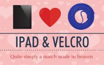 ipad and velcro a match made in heaven, bathroom ideas