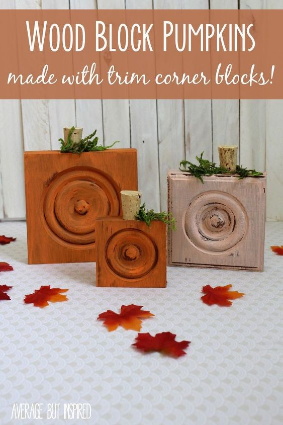 pumpkins made with trim corner blocks, crafts, how to, seasonal holiday decor
