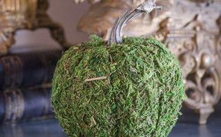 moss pumpkins make your own, crafts, seasonal holiday decor