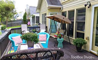 back yard chronicles my makeover on a dime, decks, gardening, outdoor furniture, outdoor living, repurposing upcycling