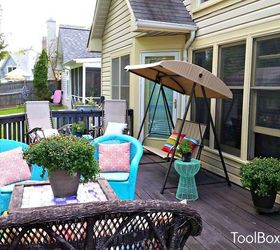Back Yard Chronicles My Makeover On A Dime, Decks, Gardening, Outdoor  Furniture, ...