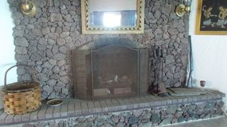 Q Painting A Lava Rock Wall Mantle Fireplaces Mantels