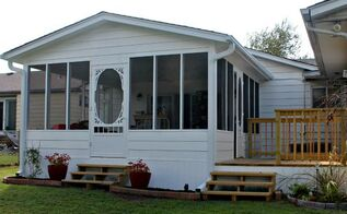 my new screened in porch and deck, decks, home improvement, porches, woodworking projects