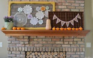 fall harvest mantel, crafts, fireplaces mantels, repurposing upcycling, seasonal holiday decor