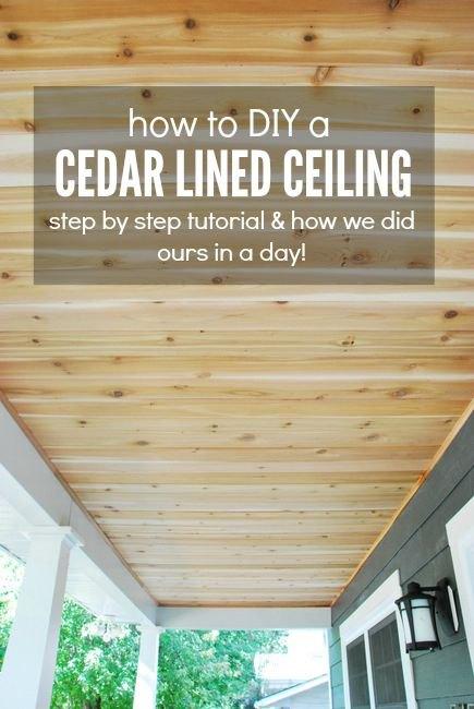 How To: A DIY Cedar Lined Porch Ceiling | Hometalk