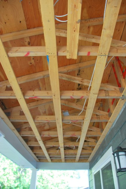 How To A Diy Cedar Lined Porch Ceiling Hometalk