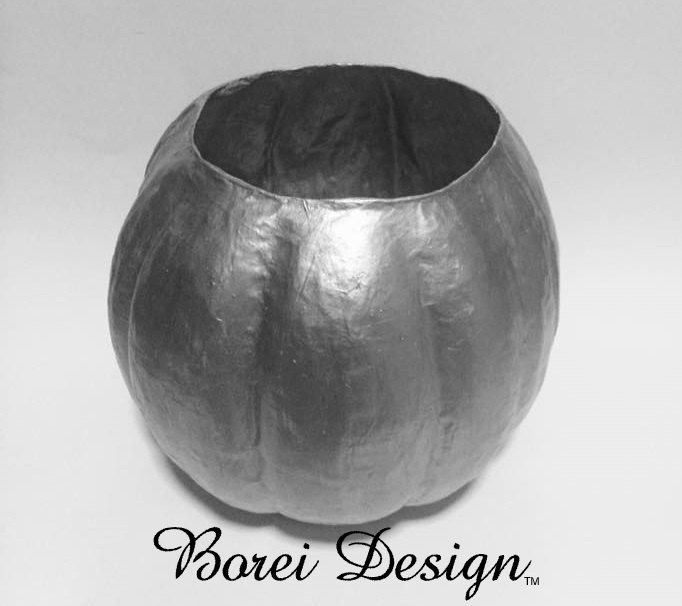 make the perfect papier m ch fall pumpkin sculpture container, crafts, halloween decorations, seasonal holiday decor