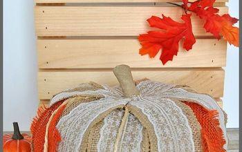 burlap lace rustic pumpkin, crafts, seasonal holiday decor