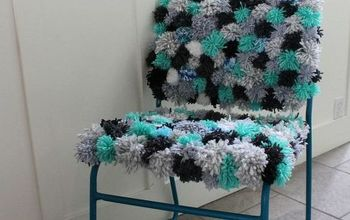 Pom Pom Chair Makeover