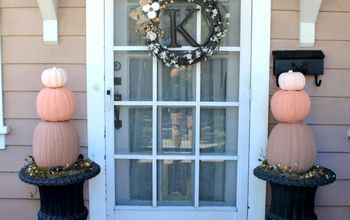 diy pumpkin topiaries, crafts, porches, seasonal holiday decor