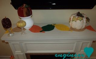 diy felt leaf table runner, crafts, seasonal holiday decor