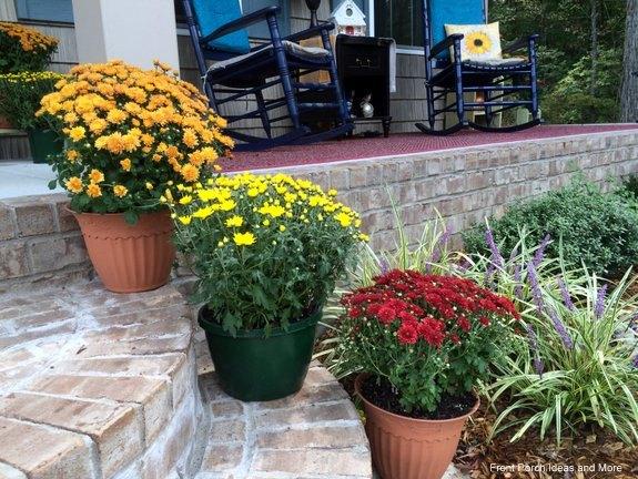 joyful sunflower fall porch decor, curb appeal, flowers, porches