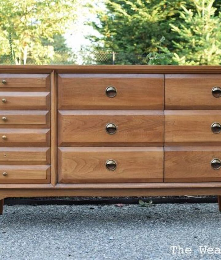 before after la period mid century modern dresser, painted furniture, repurposing upcycling