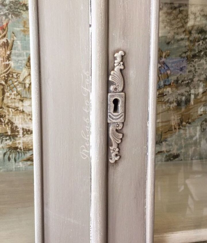 french country toile hutch, painted furniture