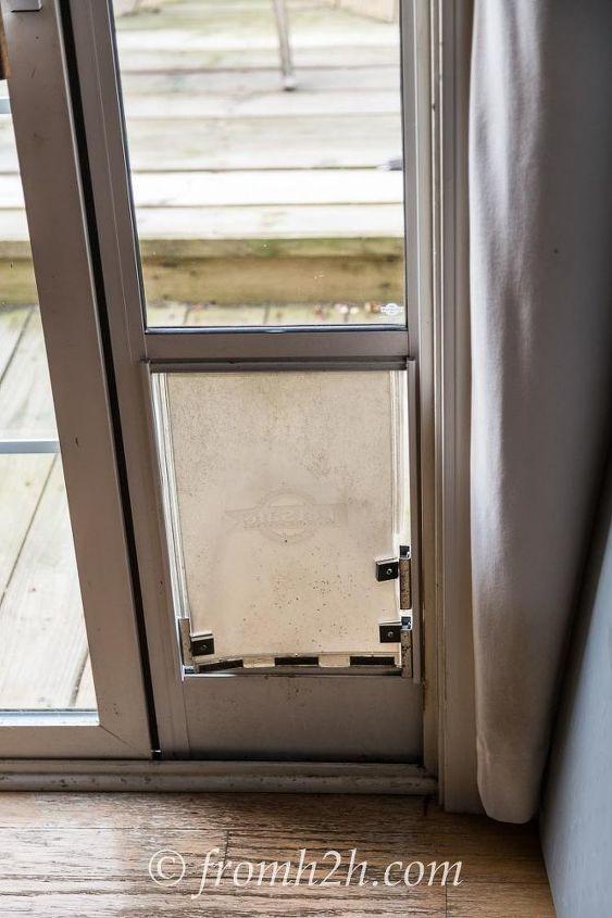 Diy Dog Door Hack How To Keep The Cat From Using The Dog Door