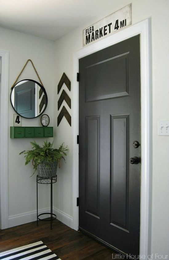 thrifty diy mudroom reveal, diy, foyer, home decor, home improvement, painting