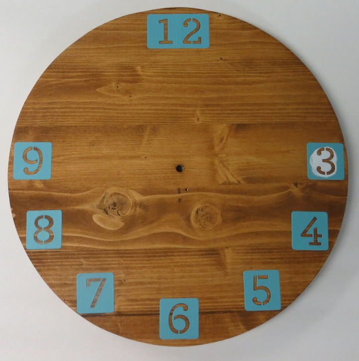 diy wood clock, crafts