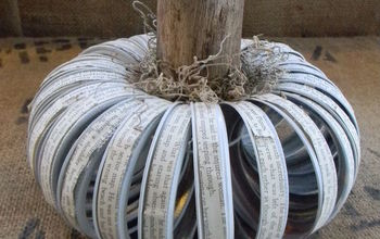 Canning Lid Ring Pumpkin With a Text Twist