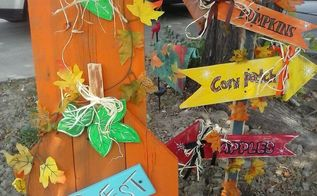 barn wood becomes beautiful fall decorations, crafts, outdoor living, seasonal holiday decor