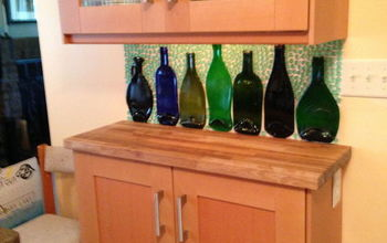 Slumped Bottles Become a Backsplash
