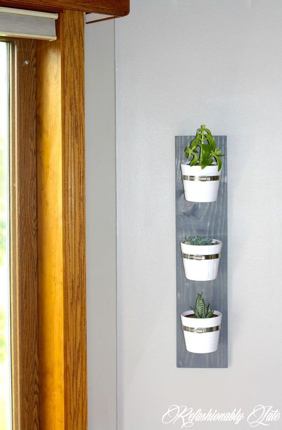 hanging succulent planter, container gardening, diy, flowers, gardening, succulents, woodworking projects