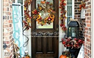 fall porch inspiration, crafts, curb appeal, porches, seasonal holiday decor