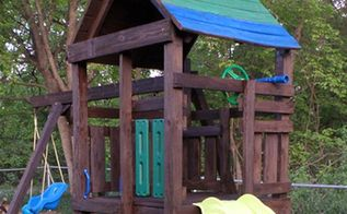 playground makeover, diy, outdoor furniture, outdoor living, painting