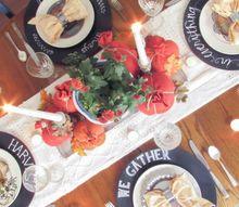 diy chalkboard chargers, chalkboard paint, crafts, dining room ideas, seasonal holiday decor