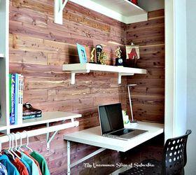 Diy Cedar Planked Closet With Built In Desk, Closet, Diy, Organizing,  Storage