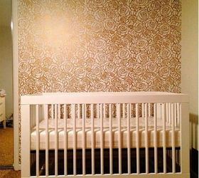 ROSES Nursery Girls Bedroom Wall Furniture Floor Stencil for Paint