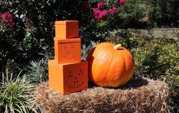 stackable wood pumpkins, crafts, halloween decorations, seasonal holiday decor
