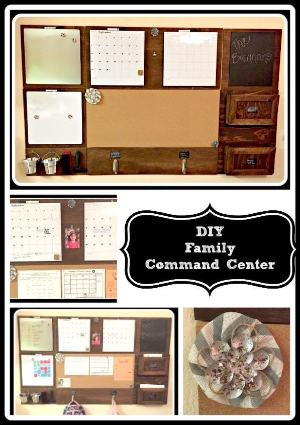 diy family command center, crafts, how to, organizing