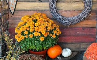an ombre pallet project for your fall porch, pallet, repurposing upcycling, seasonal holiday decor