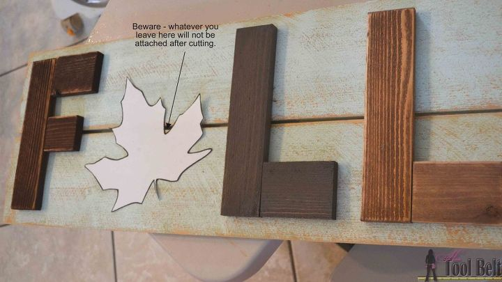 wooden fall sign, crafts, seasonal holiday decor, woodworking projects