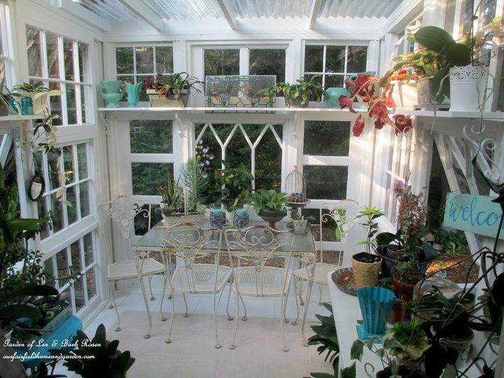 Interior: Repurposed Windows Greenhouse