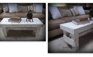 rustic bench coffee table diy, outdoor furniture, painted furniture, pallet, repurposing upcycling, woodworking projects
