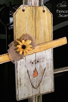 fence picket scarecrow, crafts, repurposing upcycling, seasonal holiday decor