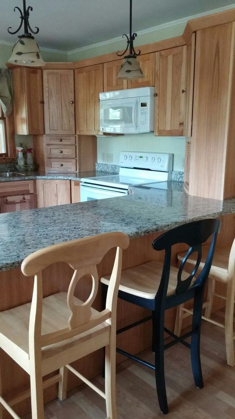 Couple Pics Before After Of Our Craigslist Find Kitchen Cabinets Hometalk