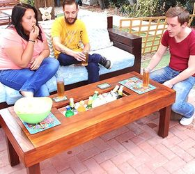 Outdoor Table With Ice Cooler Box Hometalk