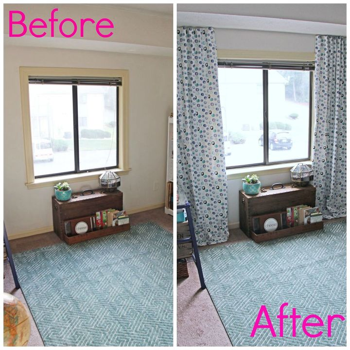My Newly Minted Curtains Home Decor Living Room Ideas Reupholster Window Treatments