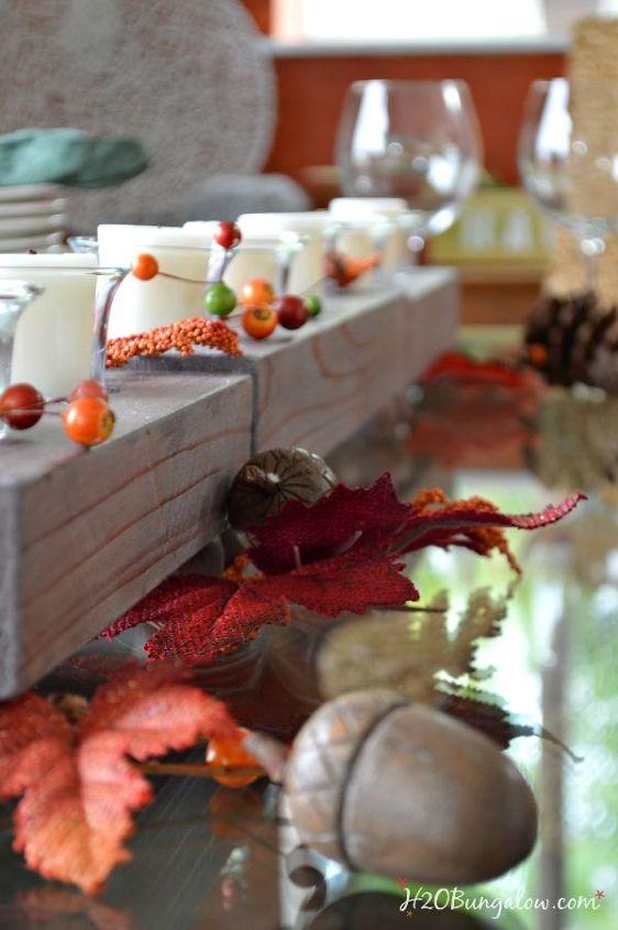 limed wood candle holder, home decor, seasonal holiday decor
