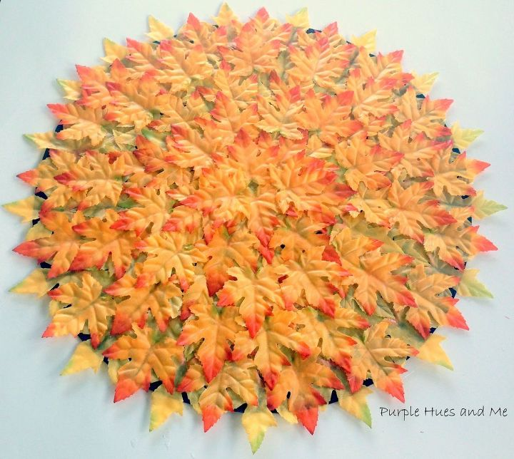 layered fall leaves placemat, crafts, home decor, seasonal holiday decor, thanksgiving decorations