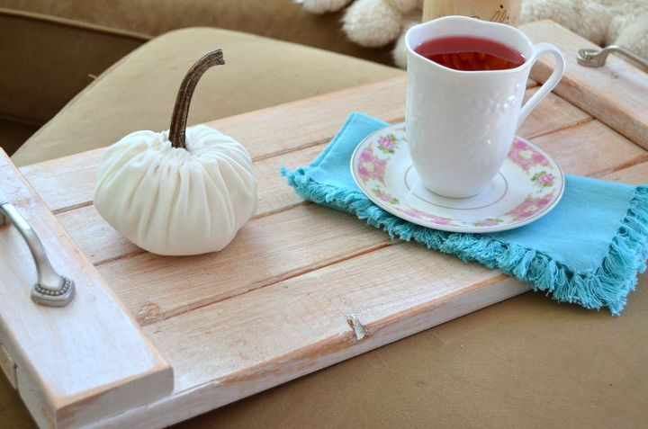 diy rustic wood tray, crafts, woodworking projects