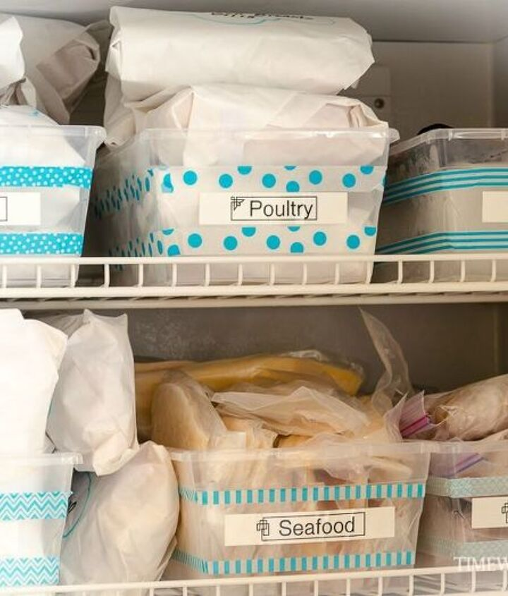 how to create a gorgeous looking totally organized upright freezer, appliances, how to, organizing, storage ideas